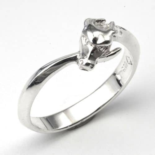 Ouroboros Silver Ring without wings