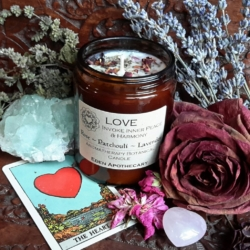 LOVE Alchemy Aromatherapy Candle | Pure Essential Oils & Own Grown Botanicals