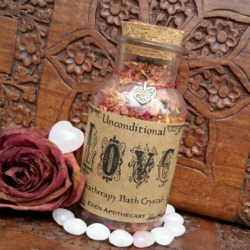 Alchemy of LOVE ~ Aromatherapy Botanical Bath Crystals ~ I am in the vibration of Love