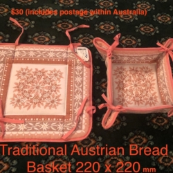 Traditional Austrian Fabric Bread Basket