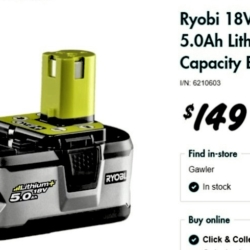 Ryobi Rechargeable Battery Donation