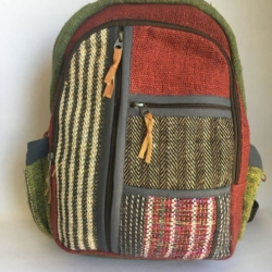 Multi pocket natural fibre Backpack
