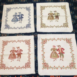 Embroidered Traditional Austrian Pillow cases