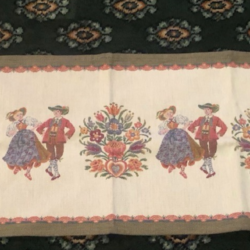 Traditional Embroidered Austrian Table Runner