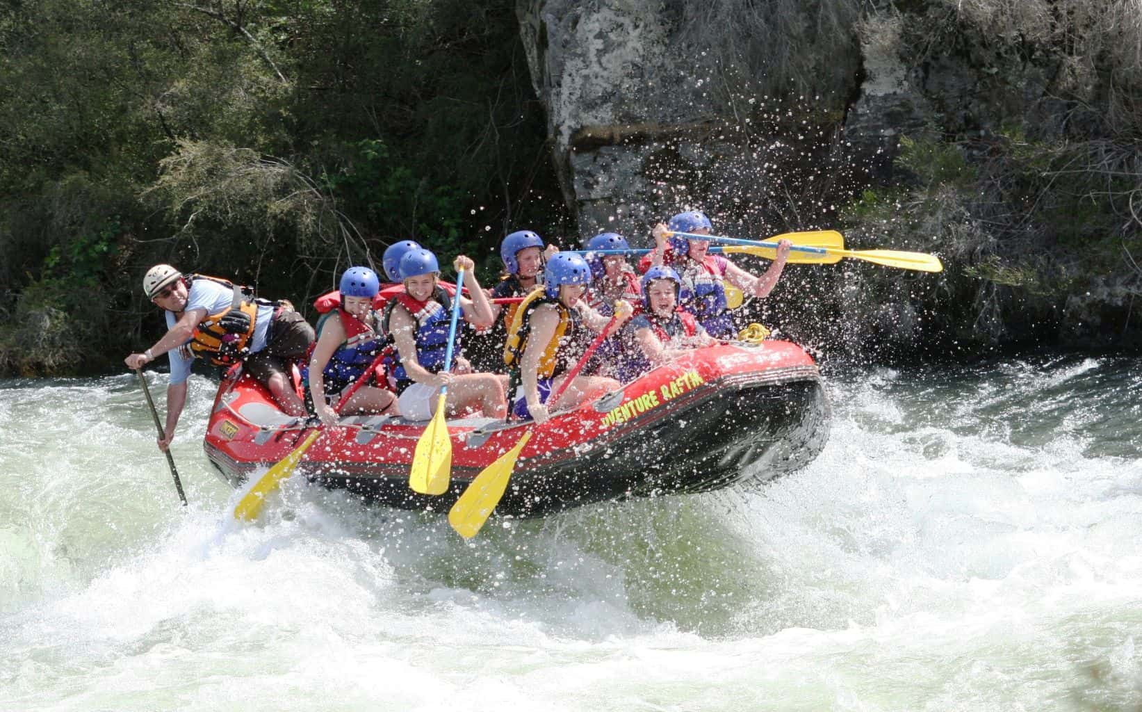 Whitewater rafting in the Summer time on the Lower Mitta River