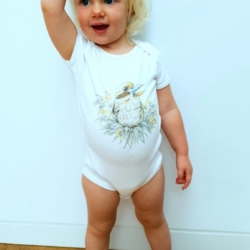 Kookaburra Short Sleeve Onesie | Dusty Road Apparel | Organic Cotton
