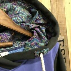 Purple paisley Hoodie