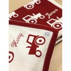 Leroy Mac Designs – Red Tractor PURE MERINO Blanket