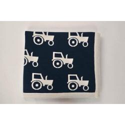 Leroy Mac Designs – Navy Tractor PURE MERINO Blanket