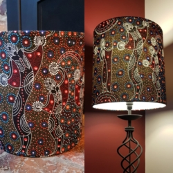 Handcrafted lampshade – Spirit dreaming