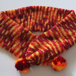 Handmade Knitted Fire Ball Scarf