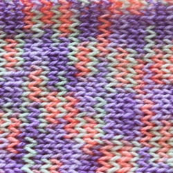 Handmade Knitted Apricot & Lavender Scarf