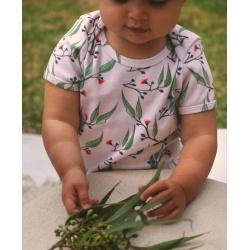Blossoms Organic Baby Onesie | Australian Made | Gum Blossoms