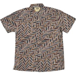 Aboriginal Art Australian designed Bamboo shirt for men. Yirrkala Dreaming