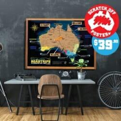 Australia Scratch off map poster