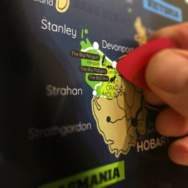Australia Scratch Map