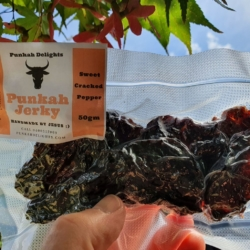"50gm Beef Jerky – ""Sweet Cracked Pepper"""
