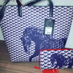 Horse Printed Tote & Wallet by Thomas Cook