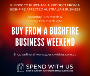 Buy From a Bushfire Business Weekend