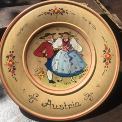 Hand Painted Austrian Hanging Wall plate