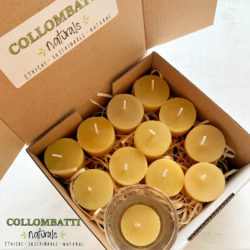 Naked Beeswax Tea Light Candles