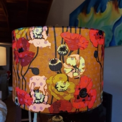 Hand crafted lampshade – Poppies