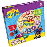 The wiggles Wooden Clock Game