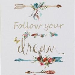 Parchment Print Follow Dreams