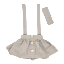 Grey Suspender Skirt