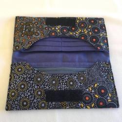 Handmade Ladies Purse – Aboriginal Print – 'Women Collecting Water'
