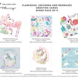 Mixed Pack of 6 Birthday Cards and matched envelopes (02)