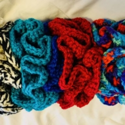 Double Ruffle Crocheted Scrunchie