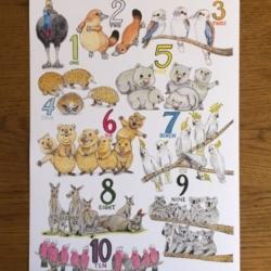 1-10 Animal poster