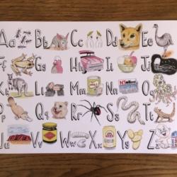 Australian Alphabet Poster