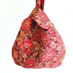 Japanese Knot Bag – Poinsettia
