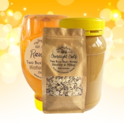 Breakfast Pack – Honey Squeeze Bottle, Peanut Butter and Overnight Oats