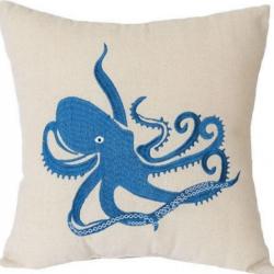 Cushion Blue Octopus