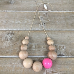 Loveridge & Co. colour pop necklace – pink