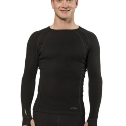 XTM 170g Merino Thermal Mens Crew Top Black