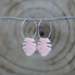 Noble Frank palm earrings – blush
