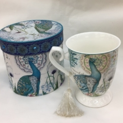 Porcelain Cup Peacock