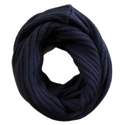 Chunky Rib Pure Merino Wool Loop Scarf