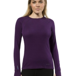 XTM 170g Merino Thermal Ladies Crew Top Blackberry
