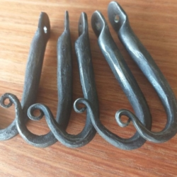 MADE TO ORDER-Hand Forged Hooks – set of 5 *FREE POSTAGE*