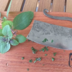 MADE TO ORDER Hand Forged Rustic Herb Chopper *FREE POSTAGE*