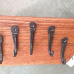 Hand Forged Hooks – set of 5 *FREE POSTAGE*