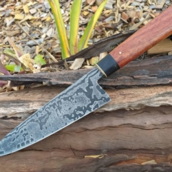 Hand Forged Damascus Chefs Knife *FREE POSTAGE*
