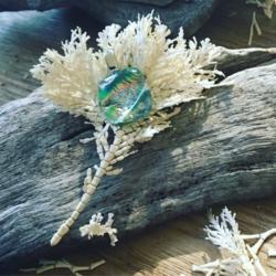 """Aquamarine beauty"" Dichroic Glass Pendant"