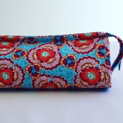 Handmade Multi Zippered Bag – Aqua Rose