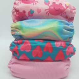 Happy Flute Cloth Nappies 4-Pack Pink